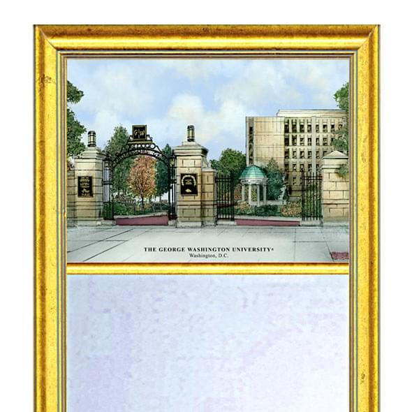 George Washington Eglomise Mirror with Gold Frame - Image 2