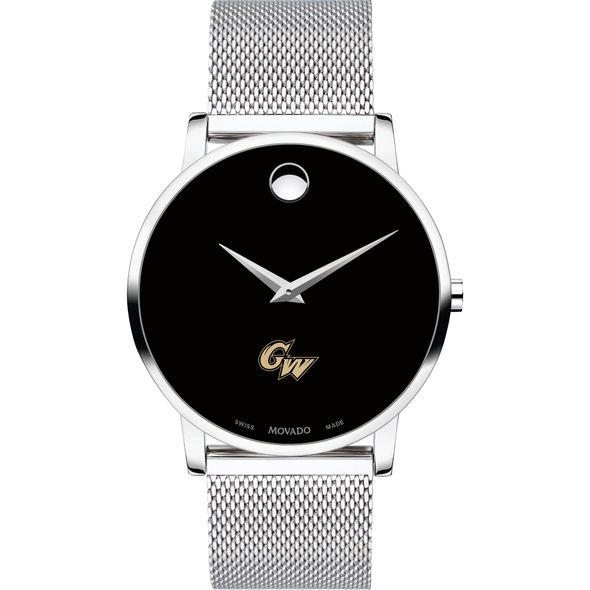 George Washington University Men's Movado Museum with Mesh Bracelet - Image 2