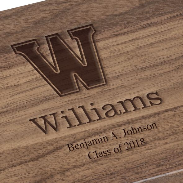 Williams College Solid Walnut Desk Box - Image 3