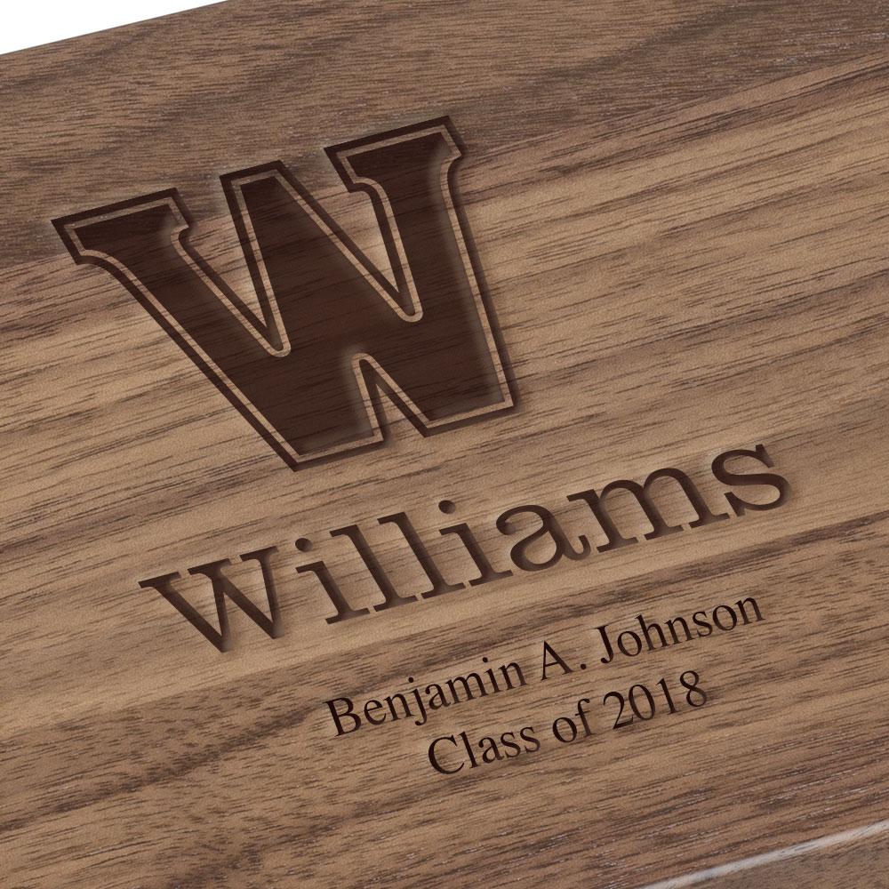 Williams College Solid Walnut Desk Box - Image 3
