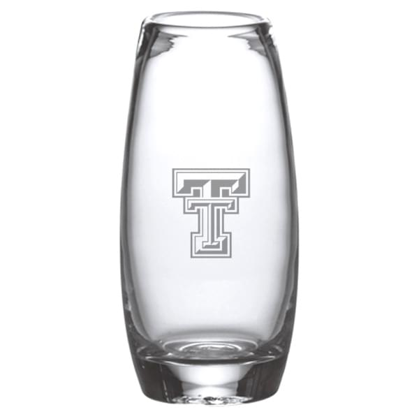 Texas Tech Glass Addison Vase by Simon Pearce