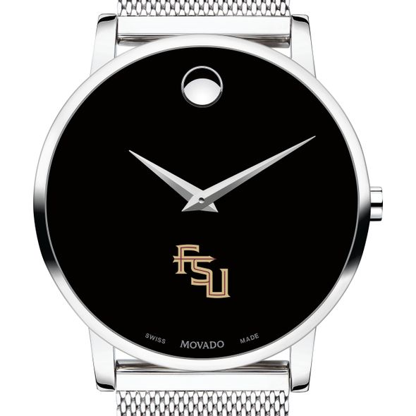 Florida State University Men's Movado Museum with Mesh Bracelet