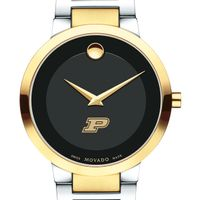Purdue University Men's Movado Two-Tone Modern Classic Museum with Bracelet
