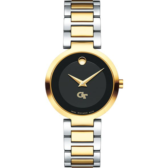 Georgia Tech Women's Movado Two-Tone Modern Classic Museum with Bracelet - Image 2
