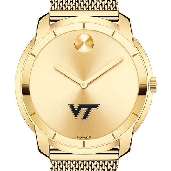 Virginia Tech Men's Movado Gold Bold 44