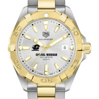 Central Michigan Men's TAG Heuer Two-Tone Aquaracer