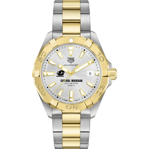 Central Michigan Men's TAG Heuer Two-Tone Aquaracer - Image 2
