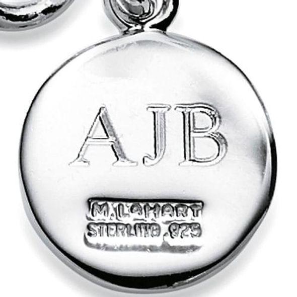 NYU Stern Sterling Silver Insignia Key Ring - Image 3