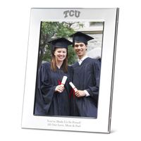 TCU Polished Pewter 5x7 Picture Frame