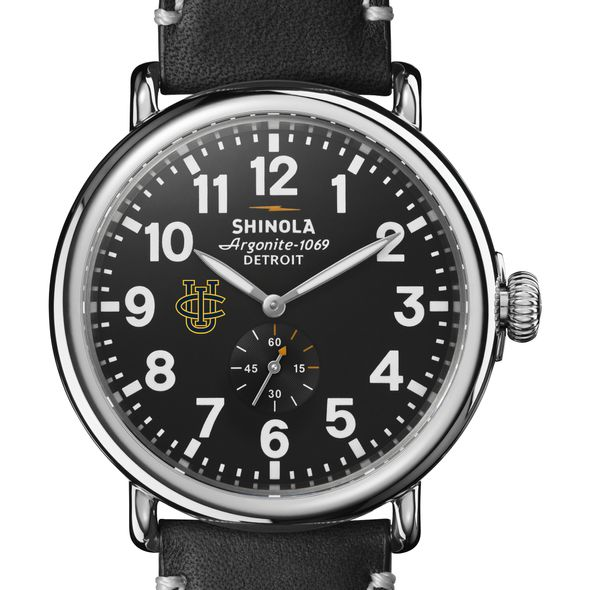 UC Irvine Shinola Watch, The Runwell 47mm Black Dial - Image 1