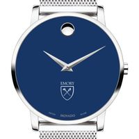 Emory University Men's Movado Museum with Blue Dial & Mesh Bracelet