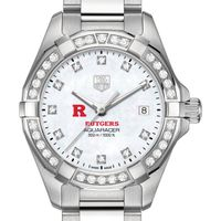 Rutgers University W's TAG Heuer Steel Aquaracer with MOP Dia Dial & Bezel