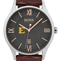 East Tennessee State University Men's BOSS Classic with Leather Strap from M.LaHart