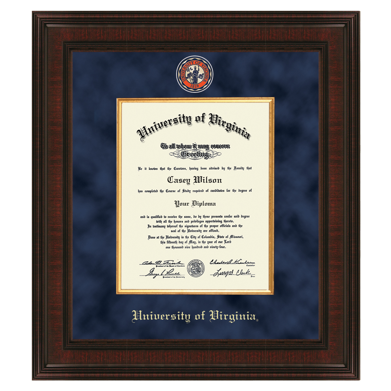 University of Virginia Diploma Frame - Excelsior | Graduation Gift