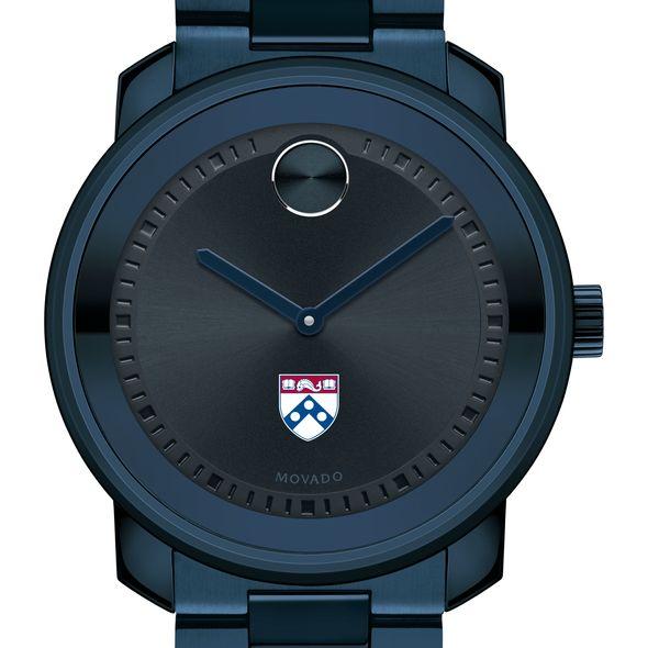 University of Pennsylvania Men's Movado BOLD Blue Ion with Bracelet