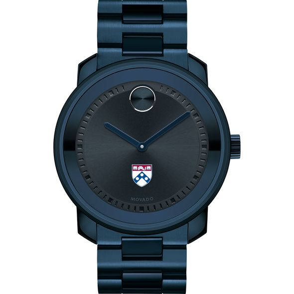 University of Pennsylvania Men's Movado BOLD Blue Ion with Bracelet - Image 2