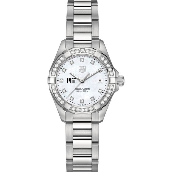 MIT Women's TAG Heuer Steel Aquaracer with MOP Diamond Dial & Diamond Bezel - Image 2