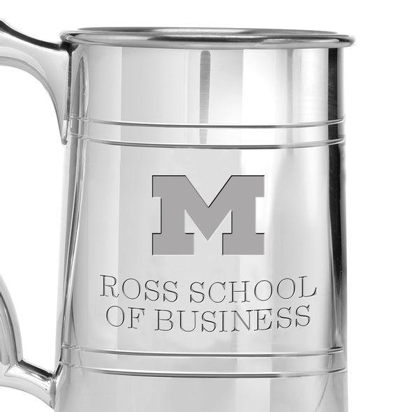 Michigan Ross Pewter Stein - Image 2