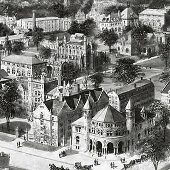 Historic Yale University Black and White Print - Image 2