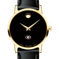 University of Georgia Women's Movado Gold Museum Classic Leather