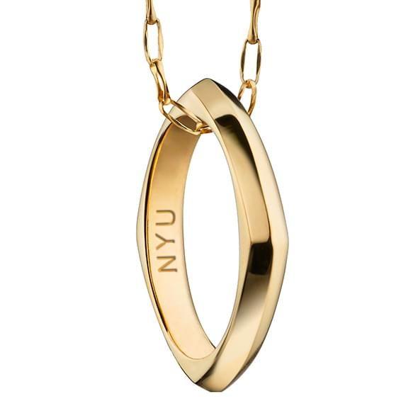 NYU Monica Rich Kosann Poesy Ring Necklace in Gold - Image 2
