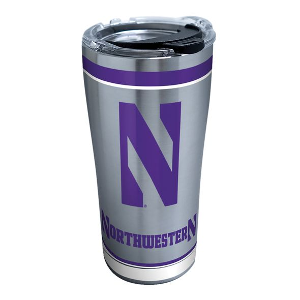 Northwestern 20 oz. Stainless Steel Tervis Tumblers with Hammer Lids - Set of 2