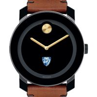 Johns Hopkins University Men's Movado BOLD with Brown Leather Strap