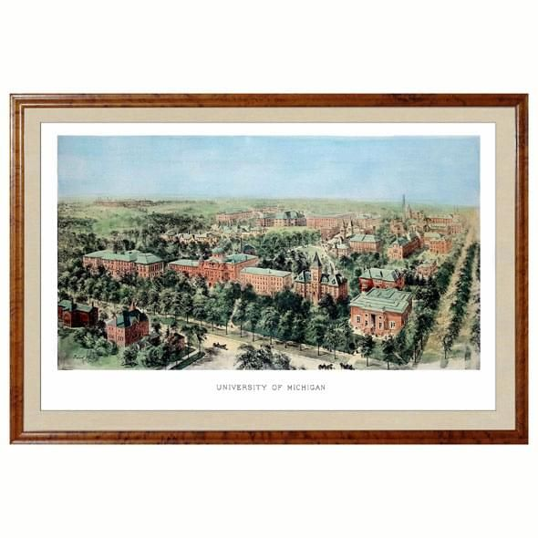 Historic University of Michigan Watercolor Print