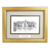Framed Pen and Ink US Military Academy Print