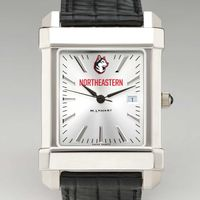 Northeastern Men's Collegiate Watch with Leather Strap