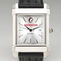 Northeastern Men's Collegiate Watch with Leather Strap