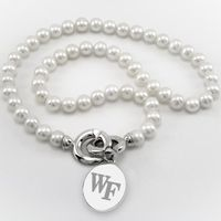 Wake Forest Pearl Necklace with Sterling Silver Charm