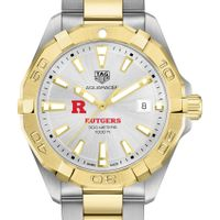 Rutgers University Men's TAG Heuer Two-Tone Aquaracer