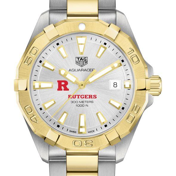 Rutgers University Men's TAG Heuer Two-Tone Aquaracer