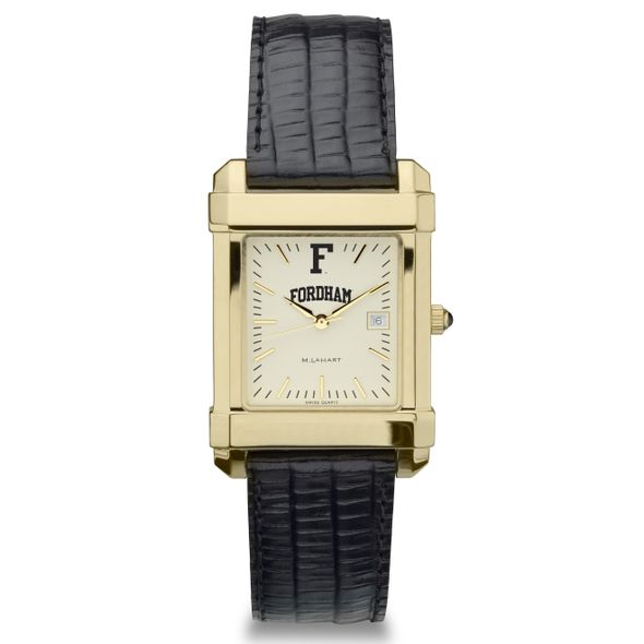Fordham Men's Gold Quad with Leather Strap - Image 2