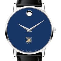 US Military Academy Men's Movado Museum with Blue Dial & Leather Strap