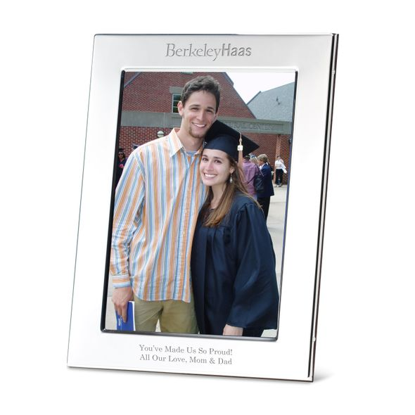 Berkeley Haas Polished Pewter 5x7 Picture Frame - Image 1