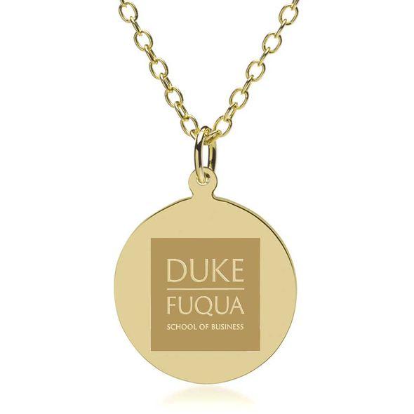 Duke Fuqua 18K Gold Pendant & Chain - Image 1