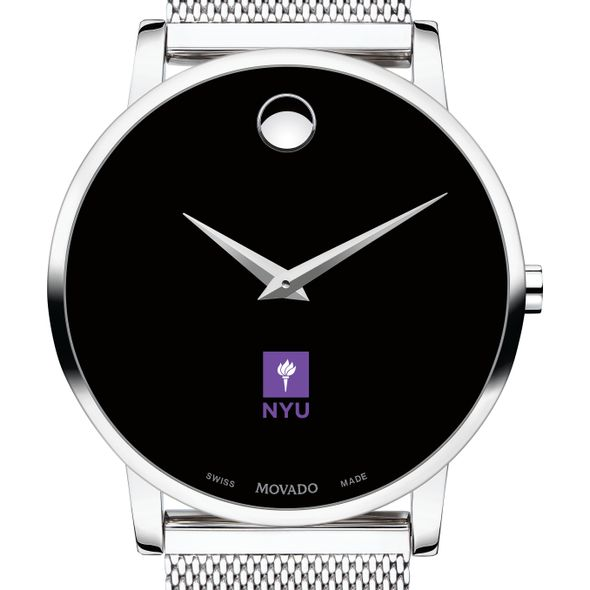 New York University Men's Movado Museum with Mesh Bracelet