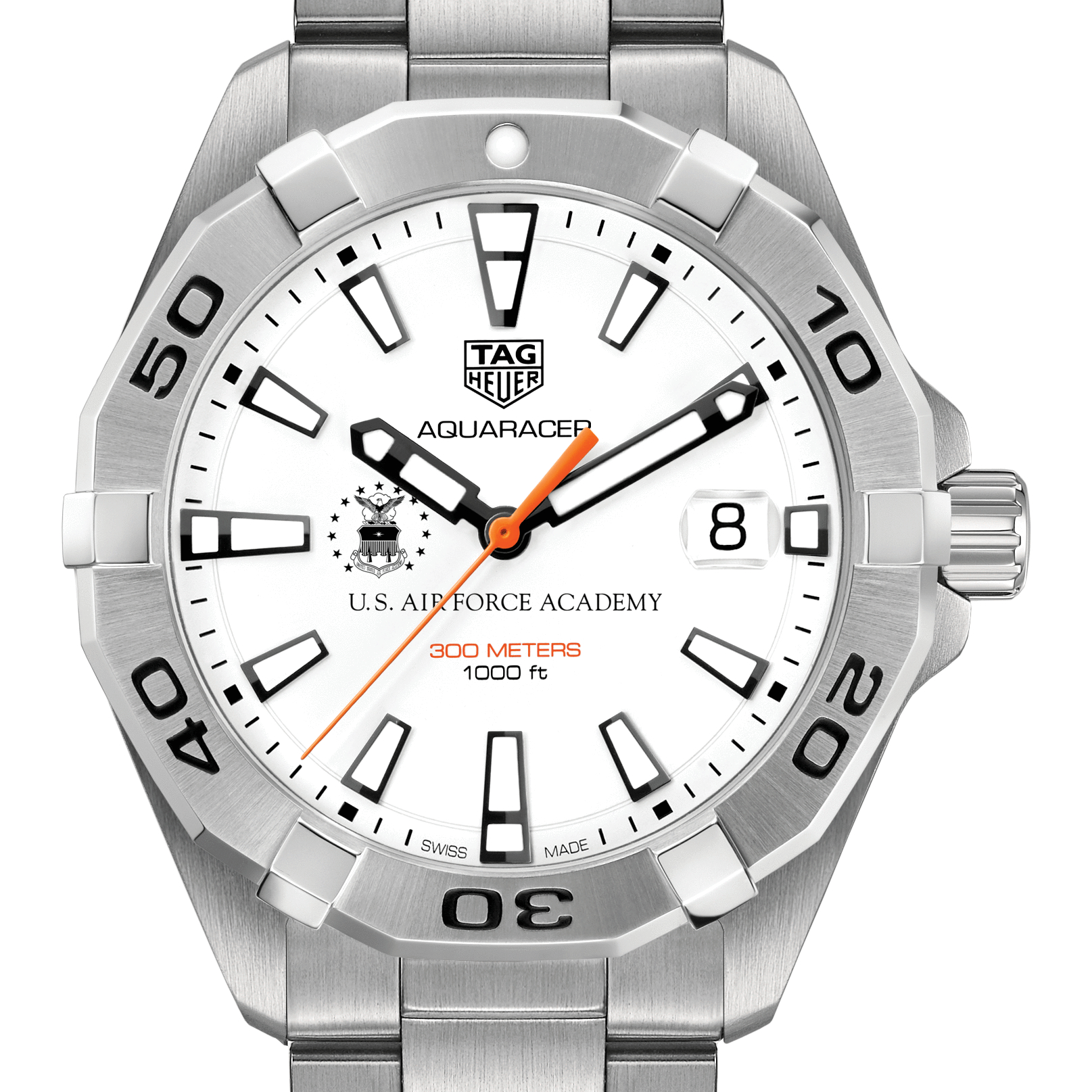 Air Force Academy Men's TAG Heuer Steel Aquaracer