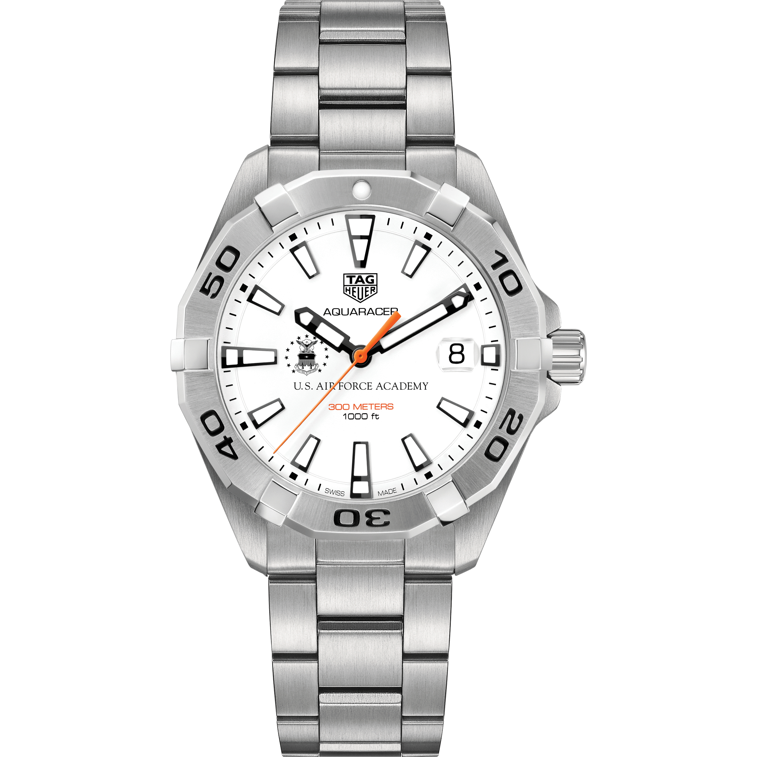 Air Force Academy Men's TAG Heuer Steel Aquaracer - Image 2