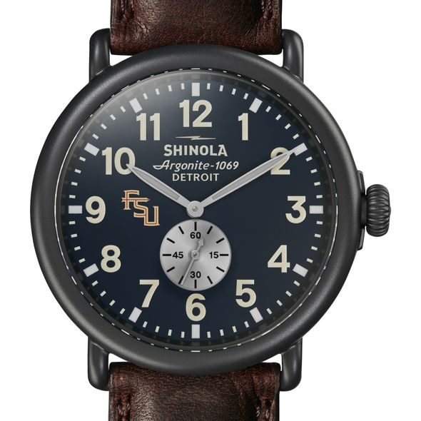 FSU Shinola Watch, The Runwell 47mm Midnight Blue Dial