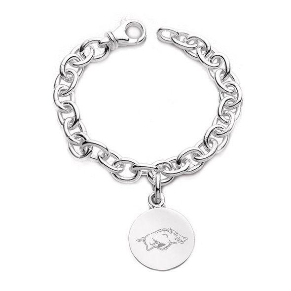 University of Arkansas Sterling Silver Charm Bracelet