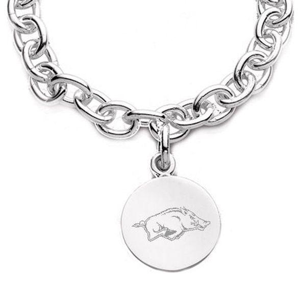 University of Arkansas Sterling Silver Charm Bracelet - Image 2