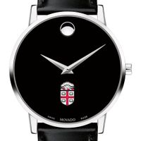 Brown University Men's Movado Museum with Leather Strap
