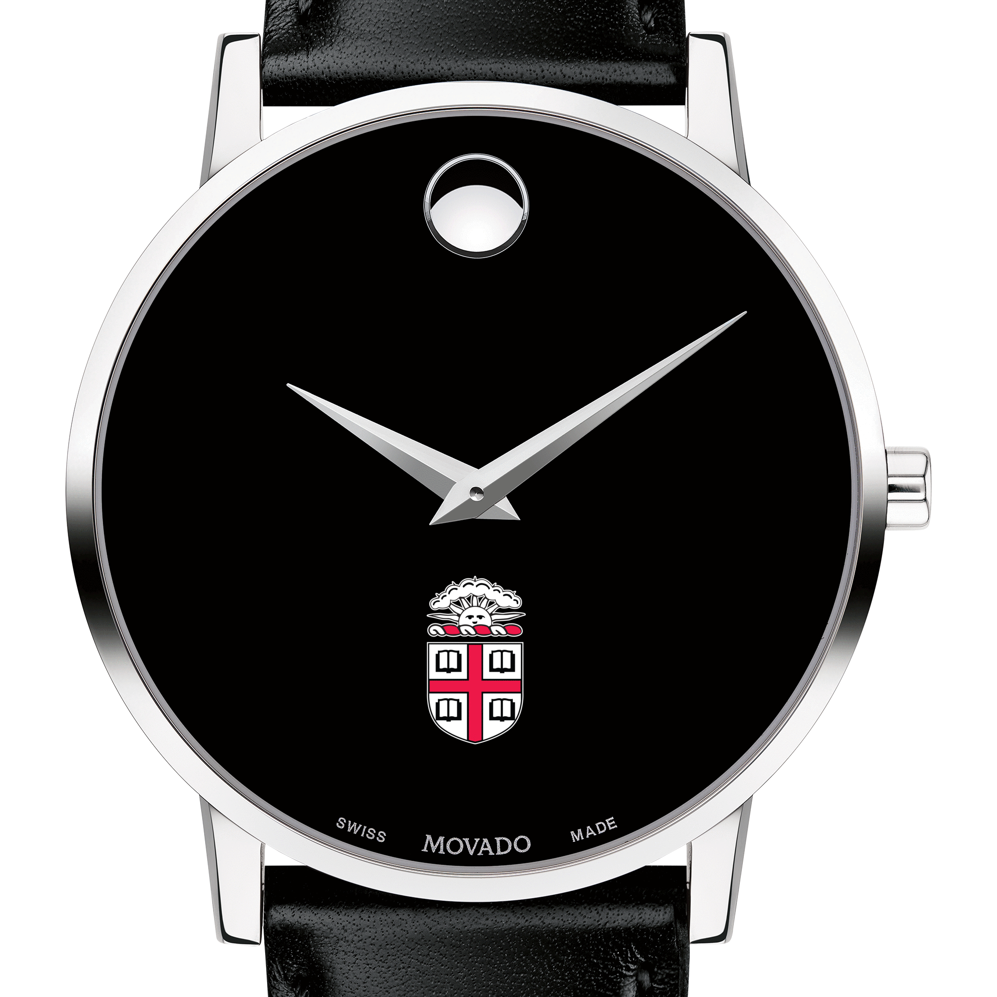 Brown Men's Movado Museum with Leather Strap