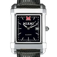 Miami University Men's Black Quad with Leather