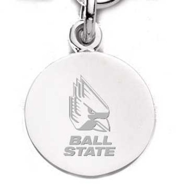 Ball State Sterling Silver Charm - Image 1