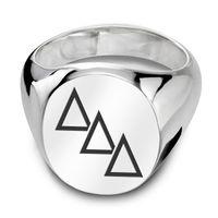 Delta Delta Delta Sterling Silver Oval Signet Ring