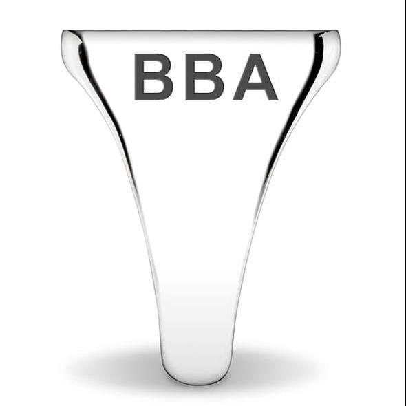 Delta Delta Delta Sterling Silver Oval Signet Ring - Image 2